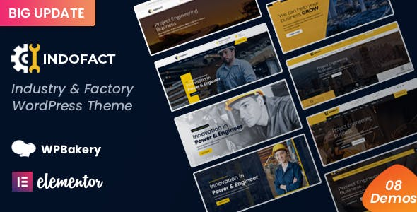 Indofact - Industry and factory WordPress Theme