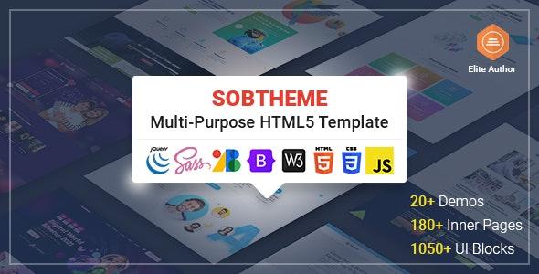Sobtheme - Multipurpose HTML5 Template - Corporate Site Templates