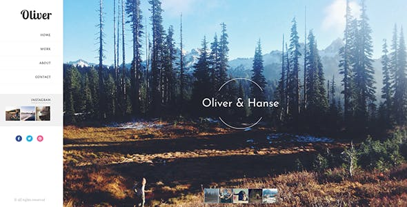 Oliver | Photography Blogger Theme