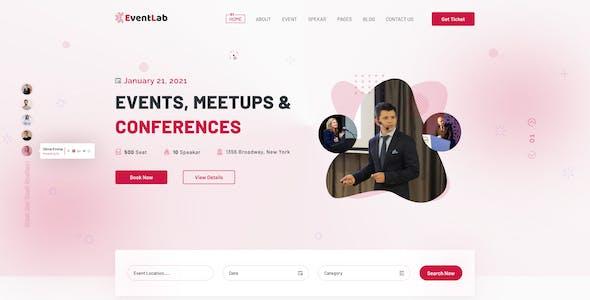 Eventlab - Event & Conference Organization Figma Template