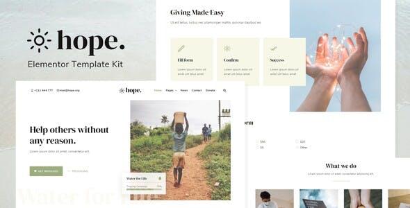 Hope - Non-Profit Elementor Template Kit