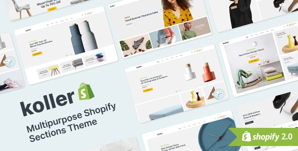 Koller - Multipurpose Shopify Sections Shopiy Theme - Shopping Shopify