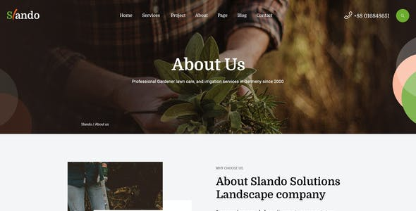 Slando  - Landscape Gardening XD Template