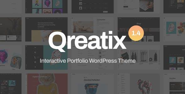 Qreatix – Interactive Portfolio WordPress Theme