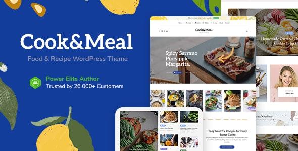 Cook&Meal - Food Blog & Recipe WordPress Theme - Personal Blog / Magazine