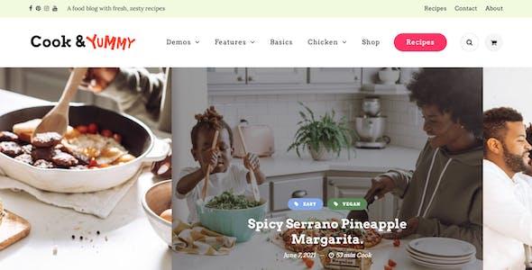Cook&Meal - Food Blog & Recipe WordPress Theme