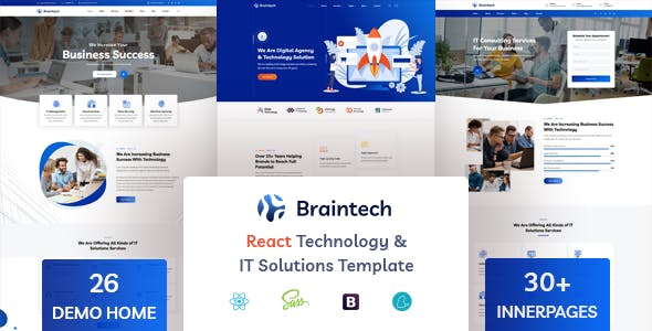 Braintech – React Technology & IT Solutions Template