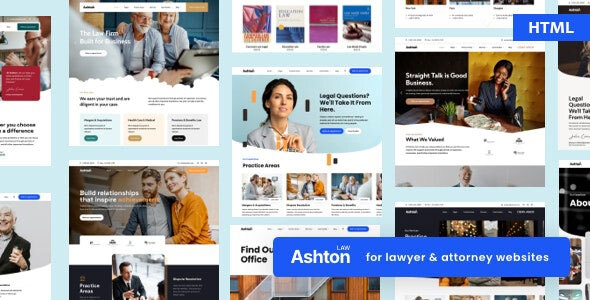 Ashton | Lawyer Attorney Law Consulting HTML - Corporate Site Templates