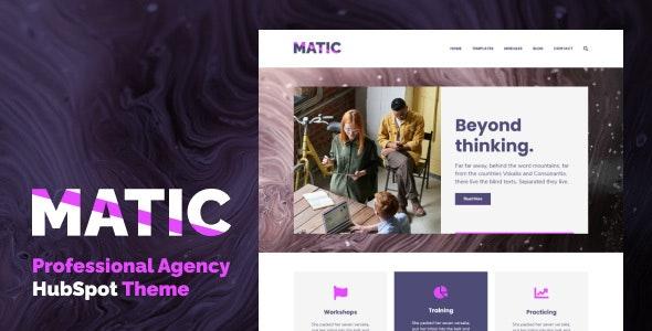 Matic - Professional Agency HubSpot Theme - Corporate HubSpot CMS Hub