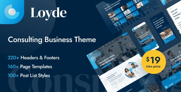 Loyde - Consulting Business WordPress Theme - Business Corporate