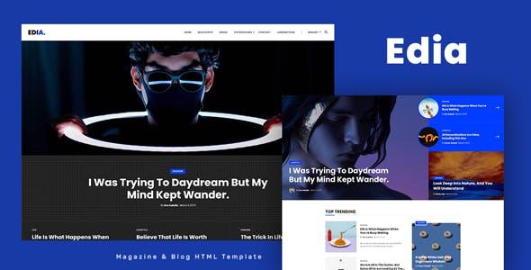 Edia - Blog and Magazine HTML Template