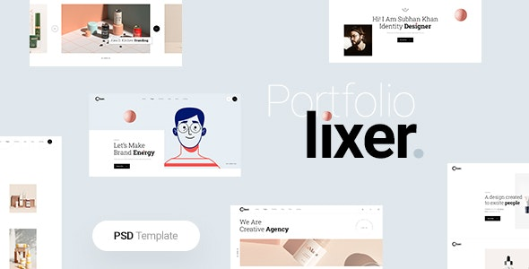 Lixer - Portfolio PSD Template - Creative Figma
