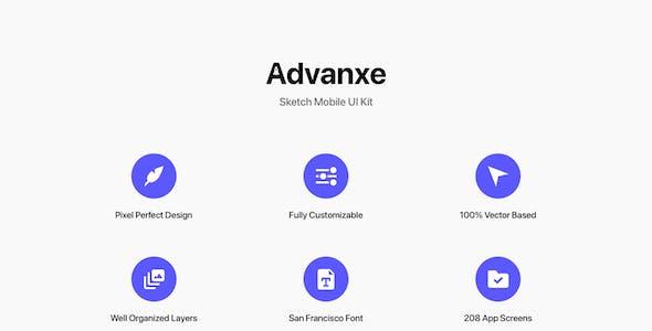 Advanxe - Sketch Mobile UI Kit