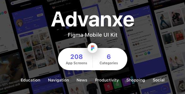 Advanxe - Figma Mobile UI Kit