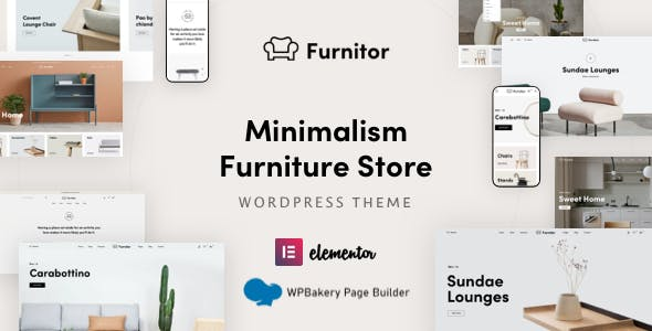 Furnitor – Minimalism Furniture Store WordPress Theme