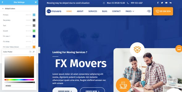 FX Movers - Moving & Storage Company Elementor Template Kit