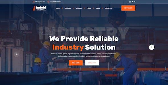 Indobi -  Industrial PSD Template