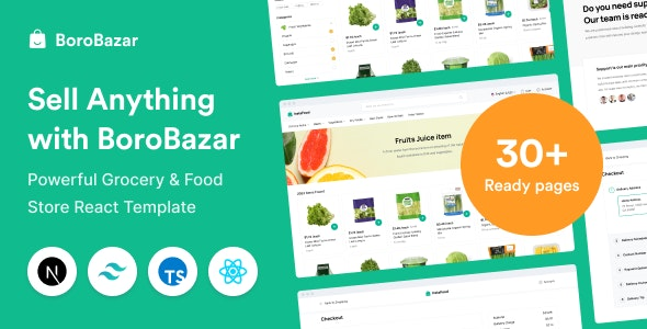 BoroBazar - React Ecommerce Template with Grocery & Food Store - Retail Site Templates