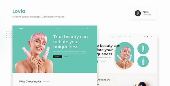Lovia - Elegant Beauty Product E-Commerce Website Figma - Health & Beauty Retail