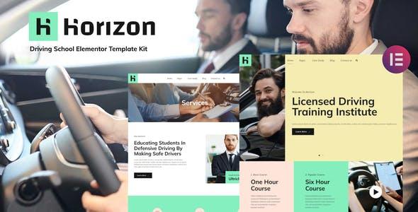 Horizon - Driving School Elementor Template Kit