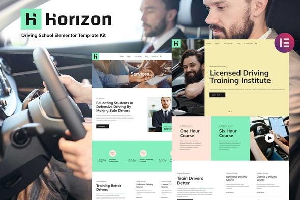 Horizon - Driving School Elementor Template Kit - Education Elementor