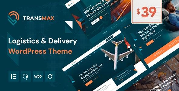 Transmax - Logistics & Delivery Company WordPress Theme - Business Corporate