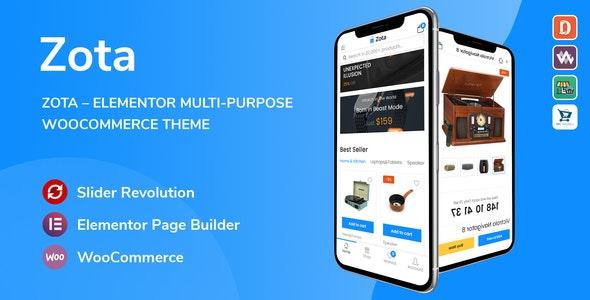 Zota v1.0.7 – Elementor Multi-Purpose WooCommerce Theme
