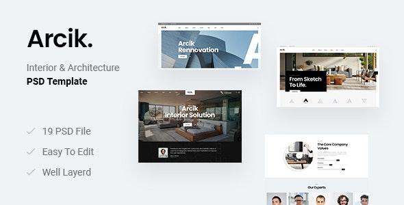 Arcik - Architecture & Interior PSD Template - Business Corporate