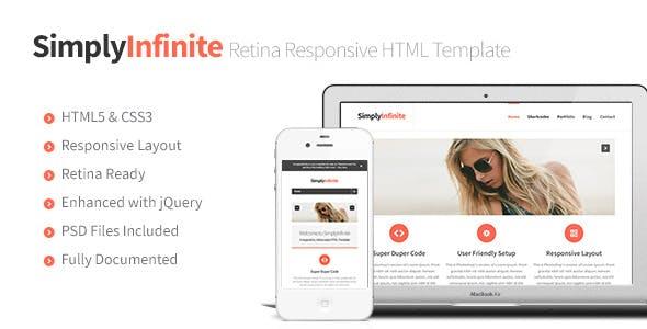 SimplyInfinite - Responsive, Retina HTML Template