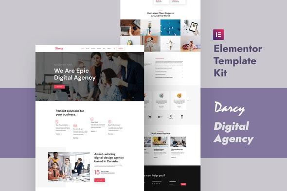 Darcy - Creative Agency Elementor Template Kit - Creative & Design Elementor