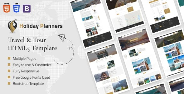 Holiday Planners - Travel & Tour HTML5 Template