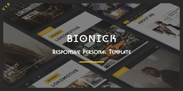 Bionick - Responsive Personal Portfolio Template - Personal Site Templates