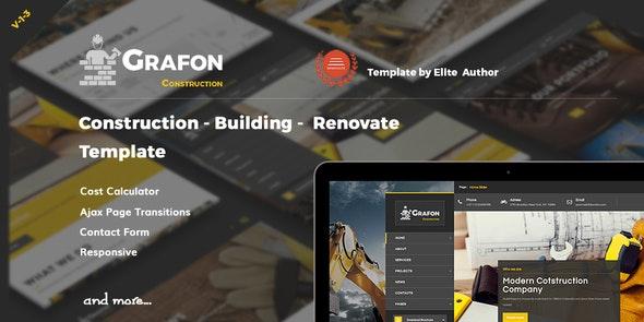 Grafon - Construction  Building Renovate Template - Business Corporate