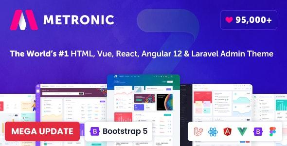 Metronic - Bootstrap 4/5 HTML, VueJS, React, Angular & Laravel Admin Dashboard Theme - Admin Templates Site Templates
