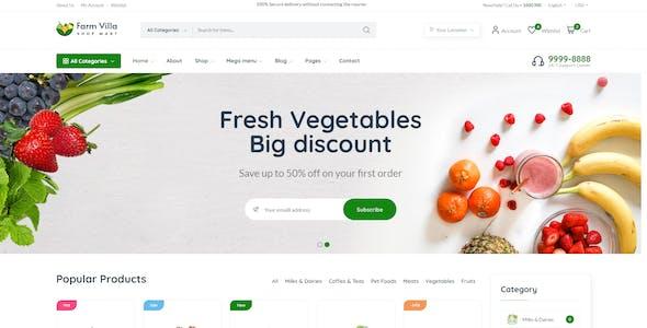 Farm Villa E-commerce HTML Template