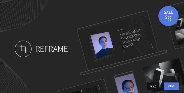 Reframe - Personal One Page Portfolio HTML Template