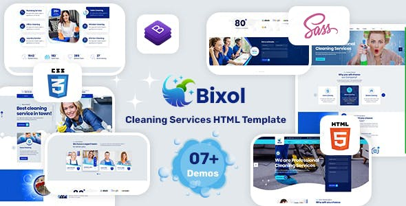 Bixol - Cleaning Services HTML Template