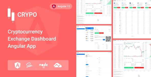 Crypo - Cryptocurrency Trading Dashboard Angular App - Admin Templates Site Templates