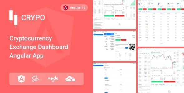 Crypo - Cryptocurrency Trading Dashboard Angular App