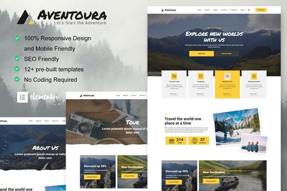 Aventoura - Travel & Tour Agency Elementor Template Kit - Travel & Accomodation Elementor