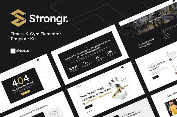 Strongr - Fitness & Gym Elementor Template Kit - Sport & Fitness Elementor