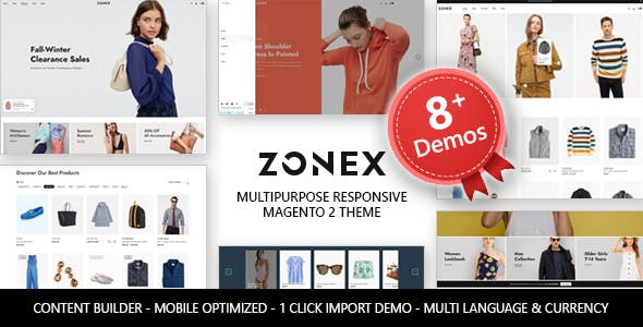 Zonex Fashion eCommerce Magento 2 Theme