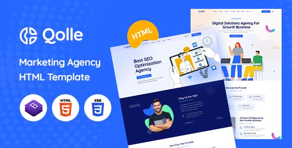 Qolle - HTML Template for Digital Marketing Agency