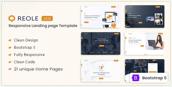 Reole v1.0 – Responsive Landing Page Template
