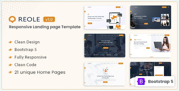 Reole - Responsive Landing Page Template
