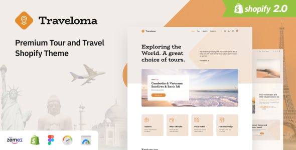 Traveloma - Tour and Travel Shopify Theme