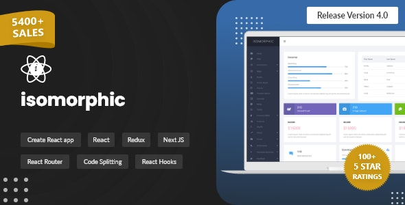 Isomorphic - React Admin Template with Redux - Admin Templates Site Templates