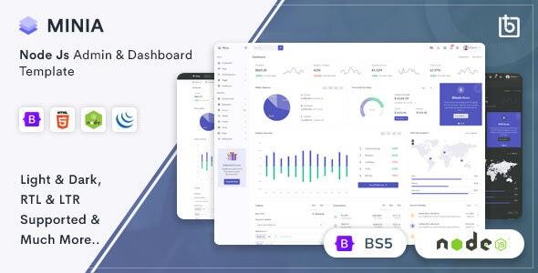 Minia - NodeJS Admin & Dashboard Template - Admin Templates Site Templates
