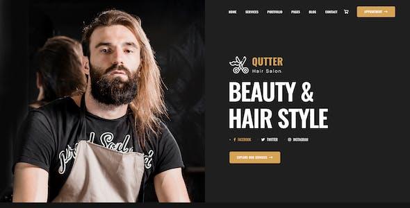 Qutter - Barbers & Hair Salons PSD Template