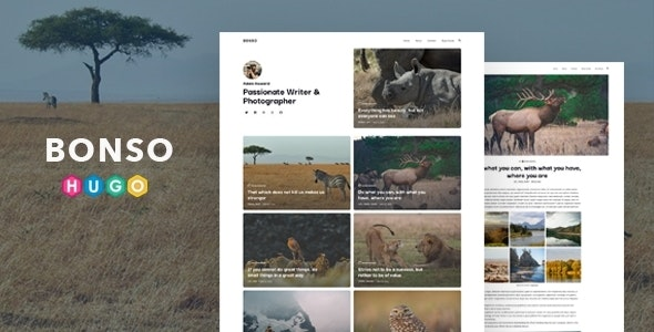 Bonso – Personal Theme for HUGO Static Site Generator - Static Site Generators